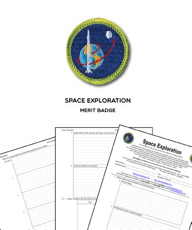 Space Exploration Merit Badge (worksheet & Requirements