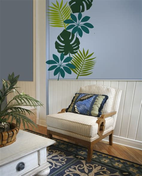 tropical leaf wall decals stickers