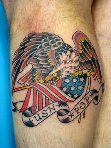 42 best Tattoos Traditional Eagle And Flag images on ...