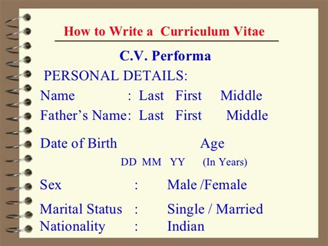 How To Make A Cv On My Phone by 02 Ppt How To Make A Cv