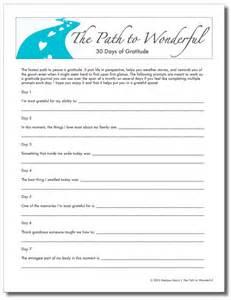 Gratitude Worksheets The Path To Wonderful By Maris Free 30 Days Of Gratitude Worksheet