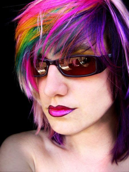 impulsive rainbow hair color ideas hairstyle  women