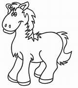 Horse Coloring Miniature Template sketch template