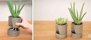 Pot À Réserve D Eau : diy fabriquez un pot r serve d eau en b ton pour vos ~ Louise-bijoux.com Idées de Décoration