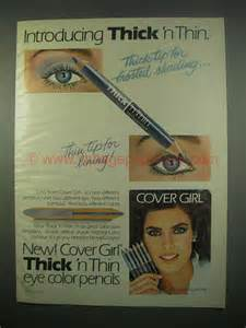 1984 Cover Girl Thick 'n Thin Eye Color Pencils Ad