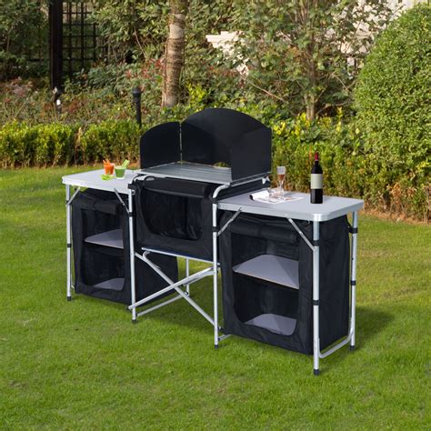 kitchen furnitures cing kitchen picnic cabinet table portable cool
