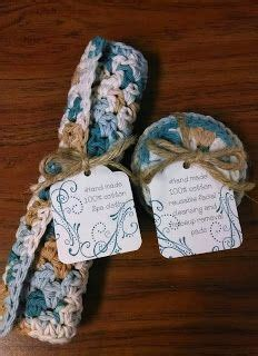 Crocheted Spa Cloth & Facial Scrubbies Gift Set, Inspired