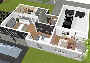 plan maison 3d logiciel gratuit pour dessiner ses plans 3d With logiciel plan maison 3d 19 brise soleil