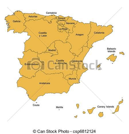 detailed map  spain
