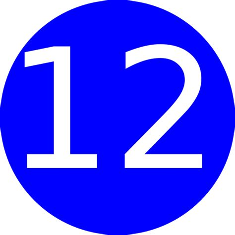 Number 12 Clipart