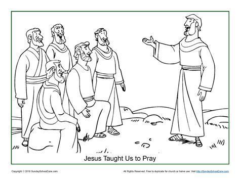 jesus taught    pray coloring page