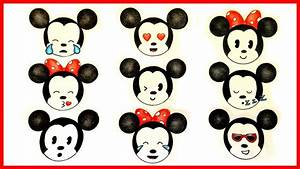 How to draw Michey & Minnie Mouse emojis ! - YouTube