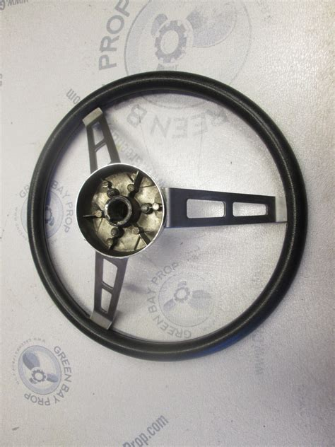 Boat Steering Wheel Shaft by Vintage Boat Stainless Steel 14 Quot Steering Wheel 3 Spokes
