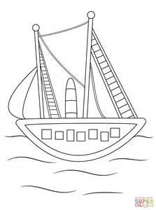 Schip Kleurplaat by Vrachtschip Kleurplaat