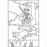 Hunter Dog Gun Hunting Coloring Sheet Pages Mountains Coon Duck Template sketch template