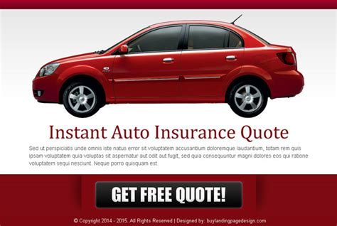 Instant Car Insurance by Ppv Landing Page Design Templates For Your