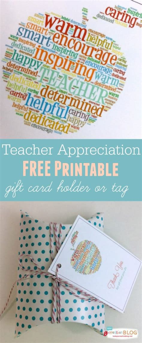 Printable teacher thank you cards are fun and delightful! Free Printable Teacher Appreciation Gift Card Holder   Skip To My Lou