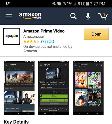 prime android app chromecast prime instant from android