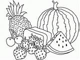 Coloring Fruit Basket Pages Colouring sketch template