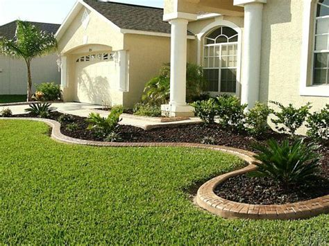 landscape ideas  front  house garden design  concrete edging gallery