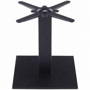 Pied De Table Metal : pied de table misco 45cm m tal noir ~ Teatrodelosmanantiales.com Idées de Décoration