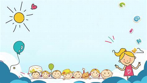 cute childrens cartoon  backgrounds powerpoint