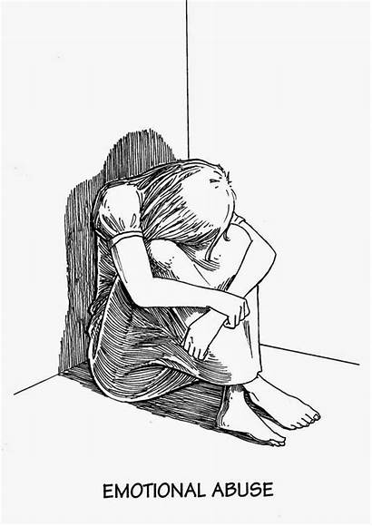 Abuse Emotional Children Drawing Parents Victims Violence