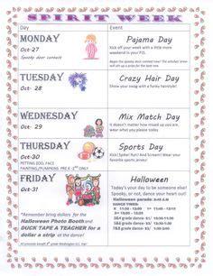 preschool spirit week ideas spirit week school spirit