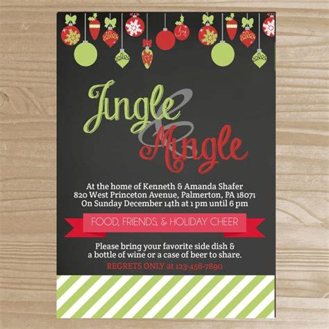 jingle mingle christmas party invitation