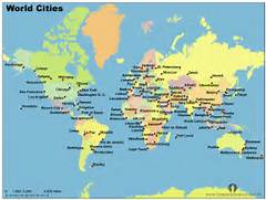 Maps World Map Major Cities Aufeus - World largest cities map