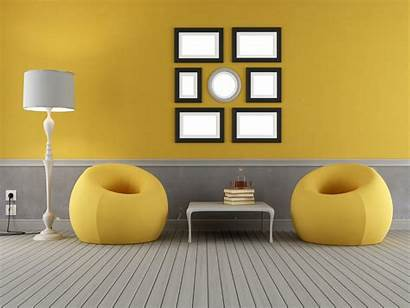 Interior Wallpapers Yellow Backgrounds Grey Awesome Gf