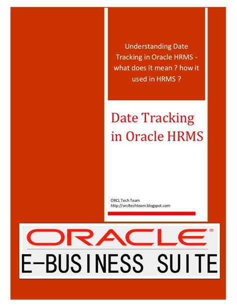 understanding date tracking  oracle hrms