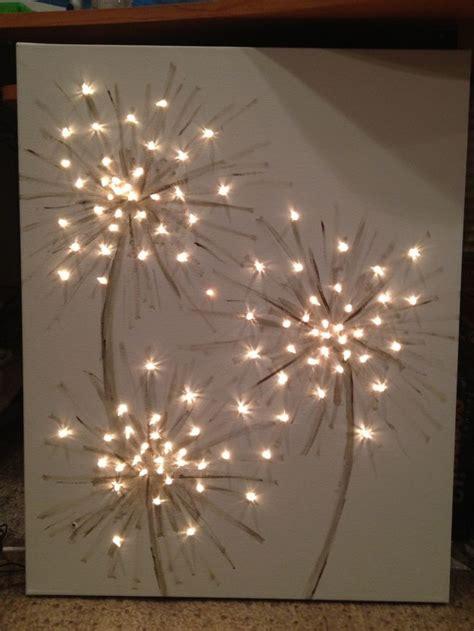 dandelion canvas artwork paintings lighted dandelion