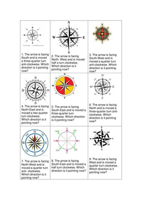maths compass point question cards and answers ks2 by ellieteacher teaching resources