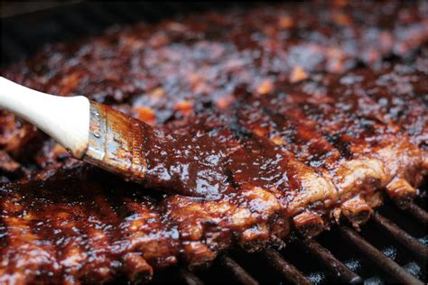 cooking ribs on the grill olive this recipe fall off the bone pork back ribs with maple balsamic chipotle barbecue sauce