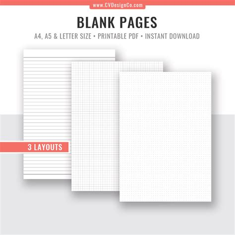 bullet journal template dot grid graph paper  paper