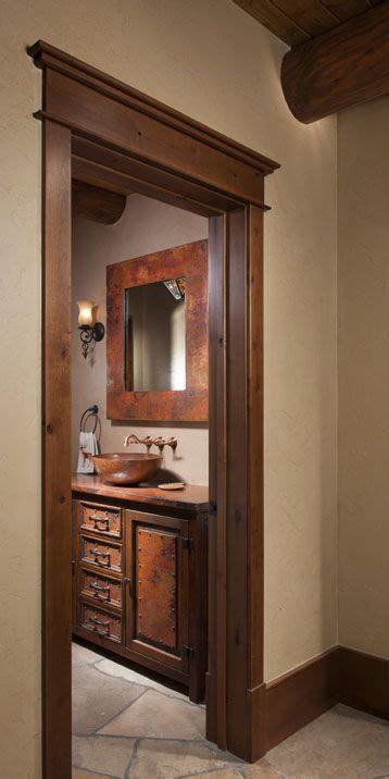 milled log bath  colorado bathroom ideas baseboards