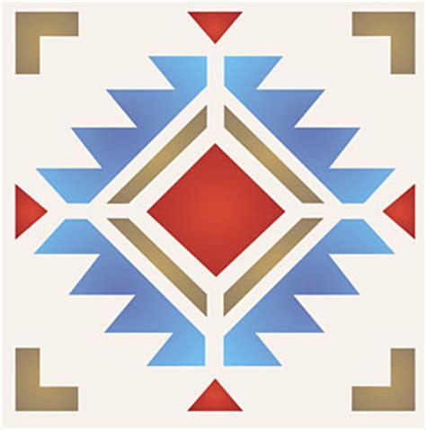 design patterns of four navajo four corners stencil henny donovan motif