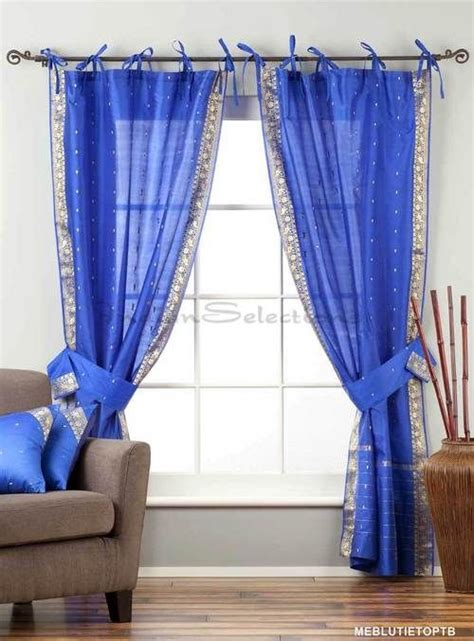 Blue Sheer Curtains Uk by 1000 Ideas About Blue Curtain Tiebacks On