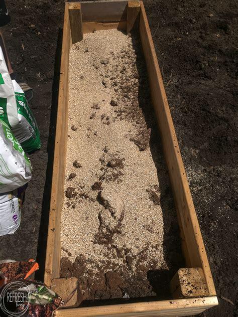soil mixture  raised garden beds diy raised garden bed soil  refresh living