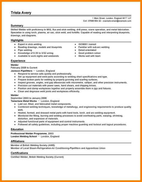10 pipefitter resume sles address exle