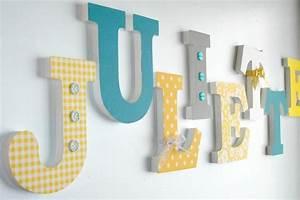 decoration chambre bebe lettre en bois visuel #5