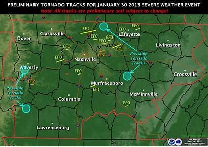 Tornadoes January Tennessee Tornado Tracks Tn Noaa