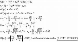 Ausbringungsmenge Berechnen : kostenrechnung als anwendung der differentialrechnung ~ Themetempest.com Abrechnung