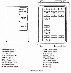 1996 Buick Park Avenue Fuse Box Diagram