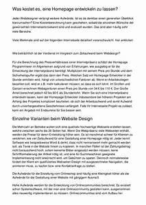 Was Kostet Eine Betonmauer : was kostet es eine homepage entwickeln zu lassen ~ Michelbontemps.com Haus und Dekorationen