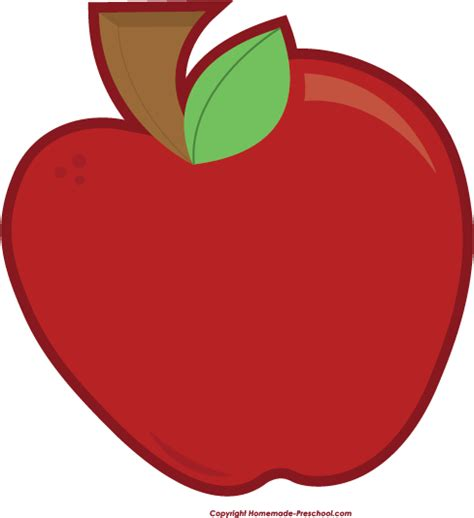 free fruit clipart 945 | red apple