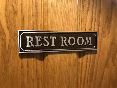 Door Restroom Sign Signs Aluminum Metal Custom