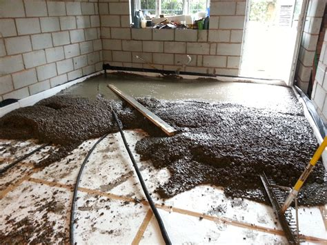 laying a floor laying an insulated concrete floor diy my extension