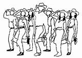 Line Dancing Dance Country Clipart Clip Cliparts Dancer Western Cayman Loxley Banks Loves Why Library Graphics sketch template